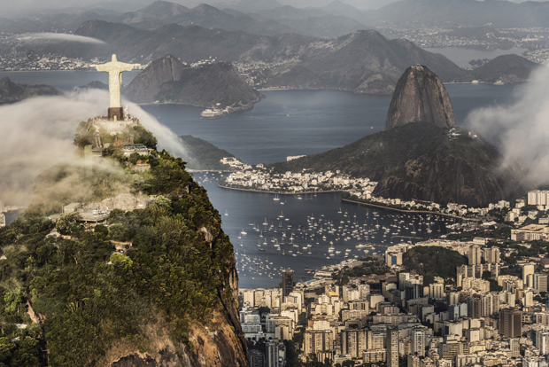 Rio de Janeiro with Christ and the Sugarloaf Mountain.