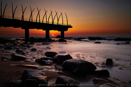 Pier in Umhlanga, Durban. Photo by Pieterjan Grobler